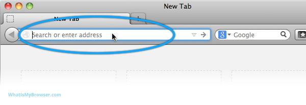 Firefox address bar